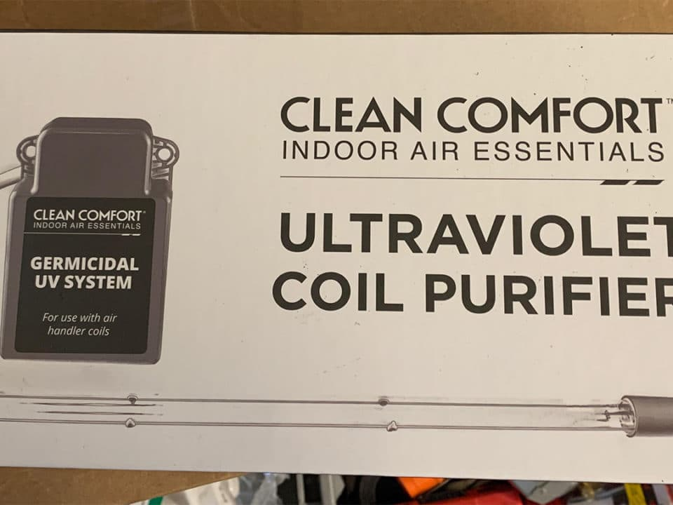 uv light air purification system